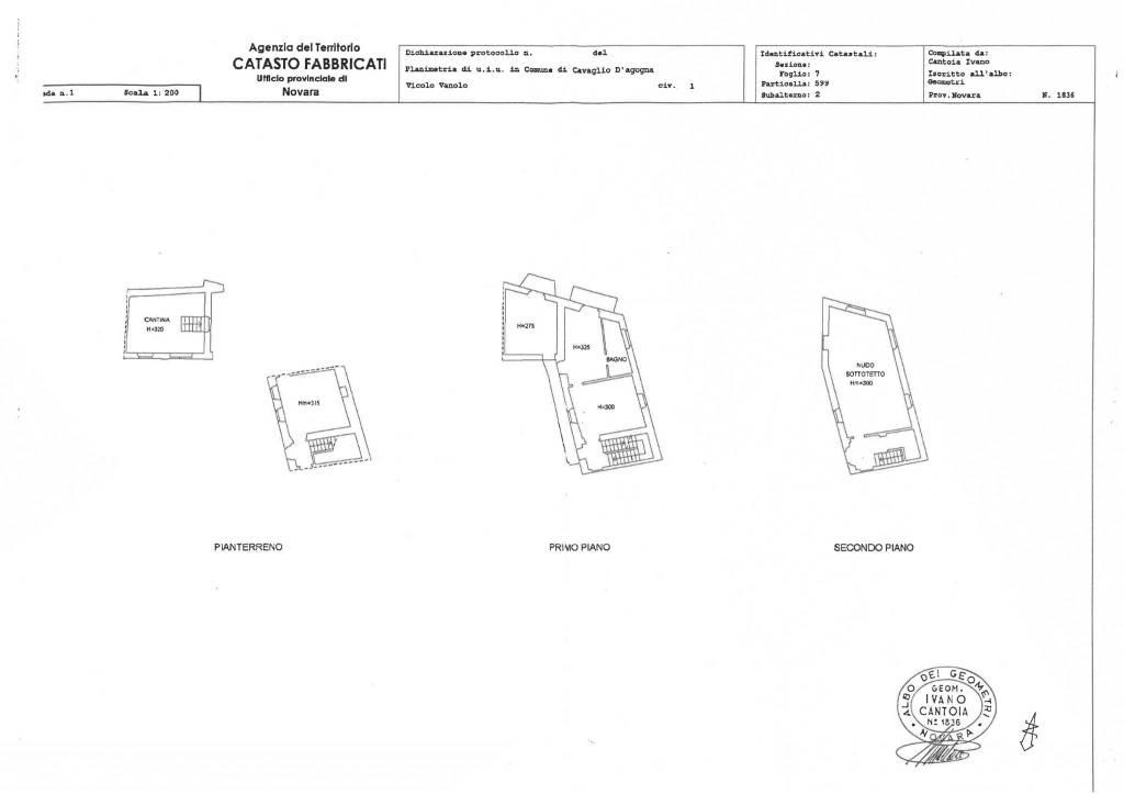 foto planimetria Casa indipendente vicolo Vanolo, 1, Vaprio d'Agogna