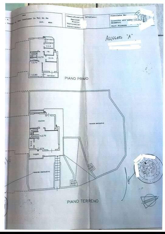 foto Planimetria Detached house via Treggiana, San Casciano in Val di Pesa