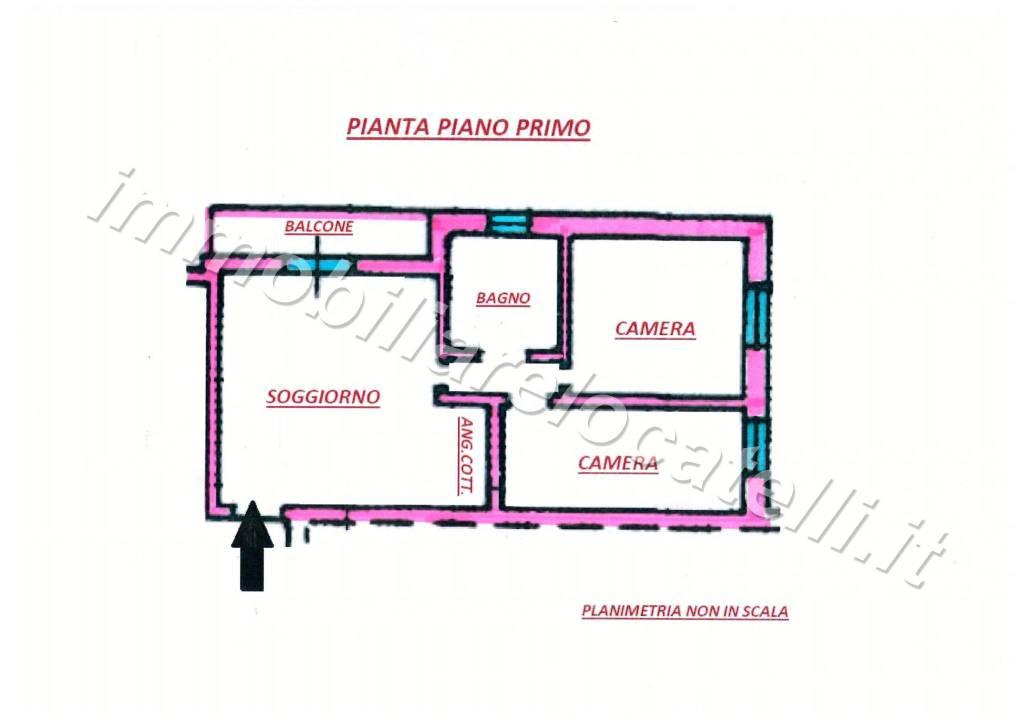 foto planimetria 3-room flat via Camonier, Zogno