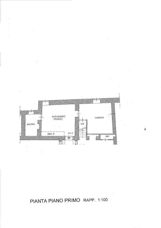 foto Planimetria 2-room flat piazza Sant'Antonio, Castel Sant'Elia