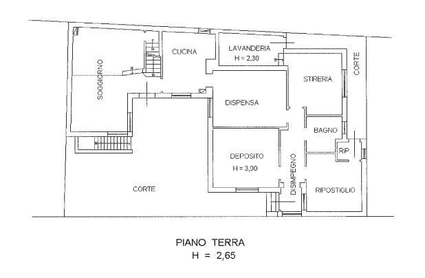 foto planimetria piano terra Односемейная вилла vicolo Roggiuzzole 8, Pordenone