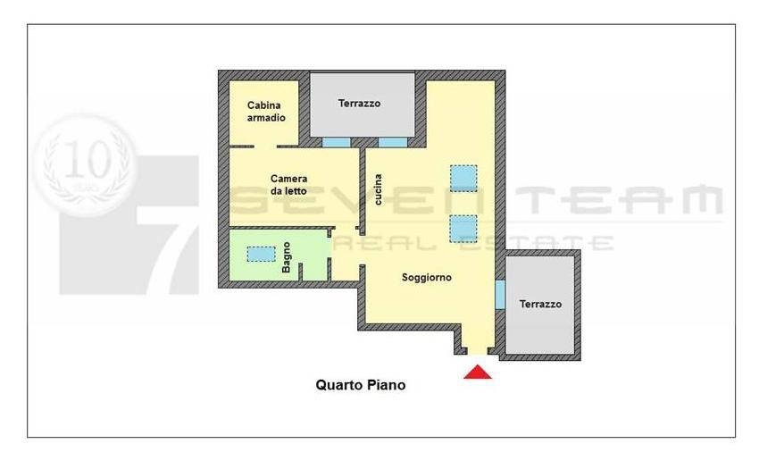 foto  2-room flat excellent condition, fourth floor, Pozzuolo Martesana