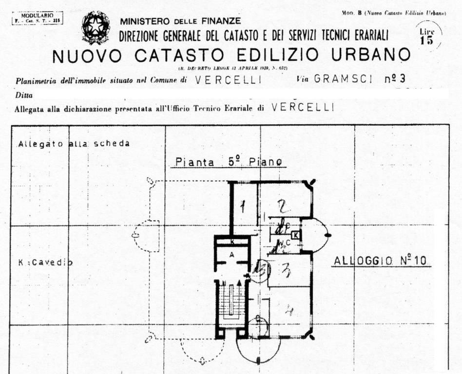 foto Appartamento Quadrilocale via Antonio Gramsci 3, Vercelli