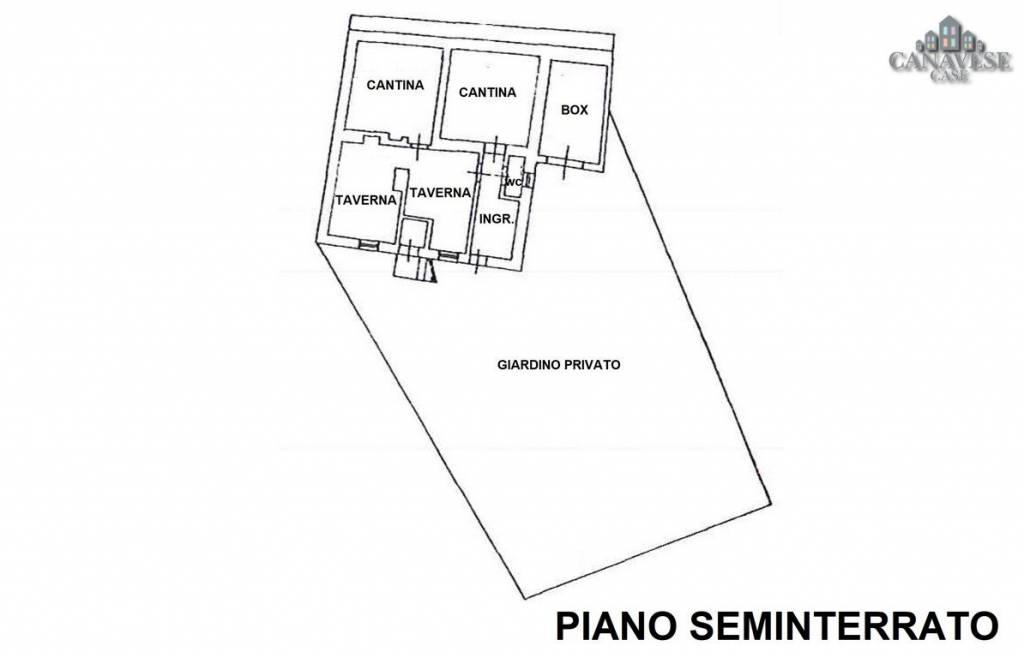 foto pianta piano seminterrato Detached house via Caresana 2, Val di Chy