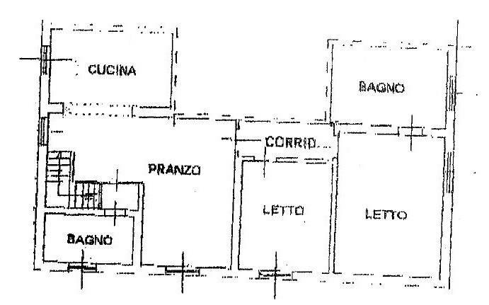 foto Planimetria Многосемейная вилла, отличное состояние, 127 m2, San Giorgio Bigarello