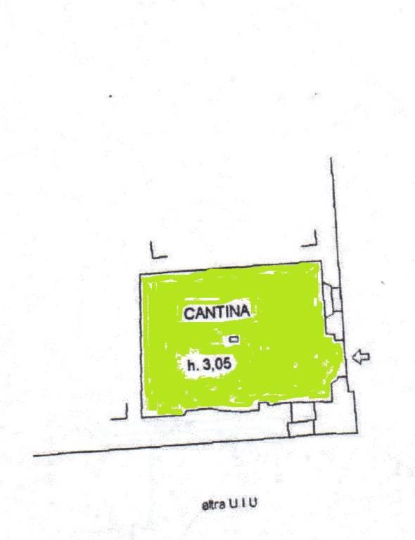 foto planimetria piano terra Trilocale via Francesco Petrarca, Casciana Terme Lari