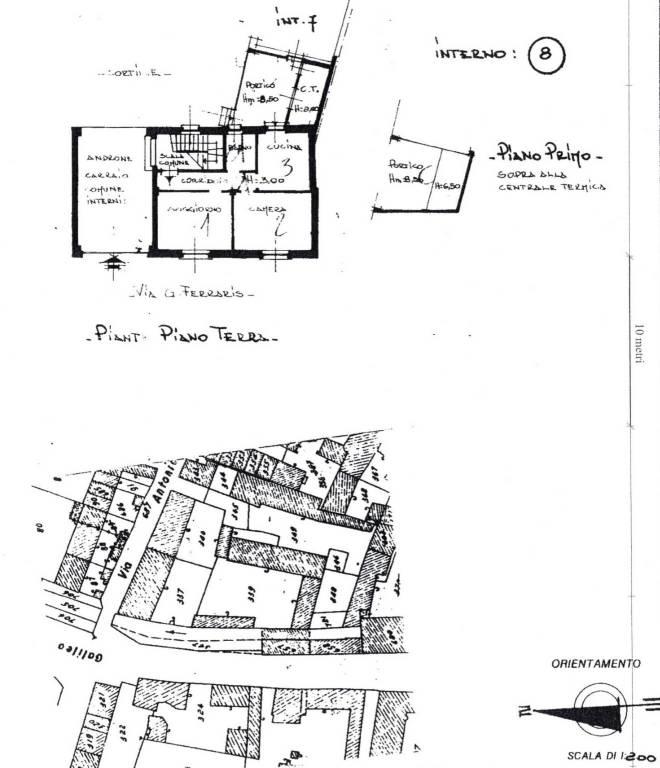 foto Planimetria piano terra Villa bifamiliare via Galileo Ferraris, San Germano Vercellese