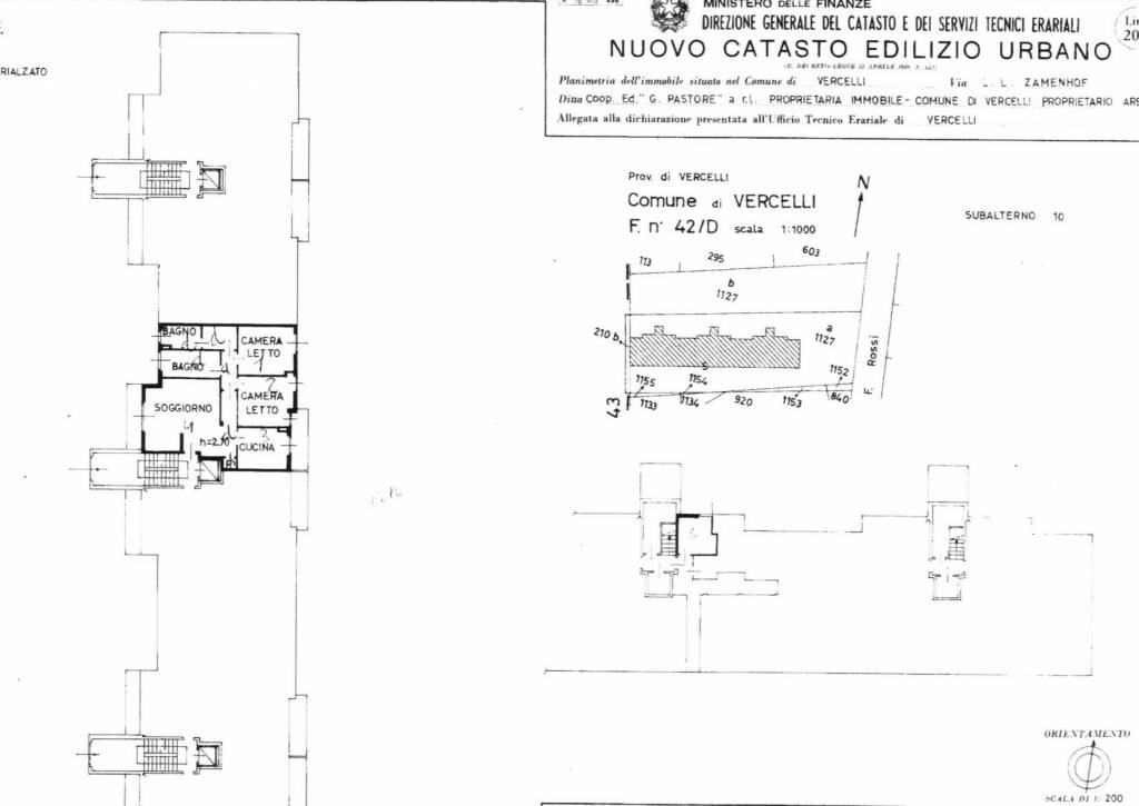 foto Planimetria Trilocale via Lazzaro Ludovico Zamenhof, Vercelli