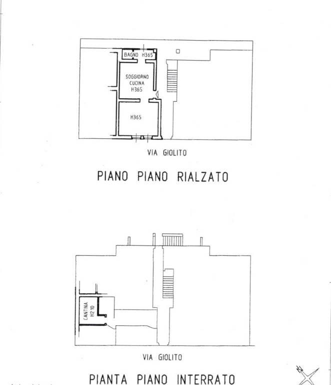 foto Planimetria Bilocale via Fratelli Giolito 42, Vercelli