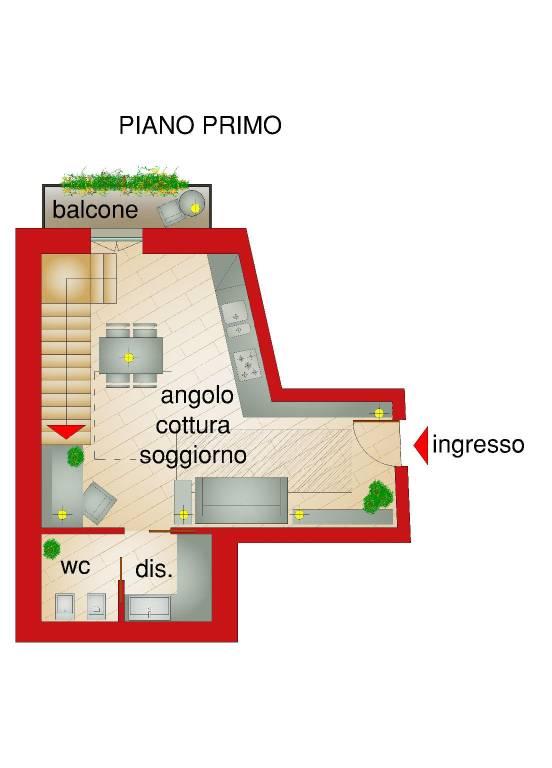 foto RAPPRESENTANZA PIANO 1° 3-room flat piazza ROMA, 20, Pinerolo