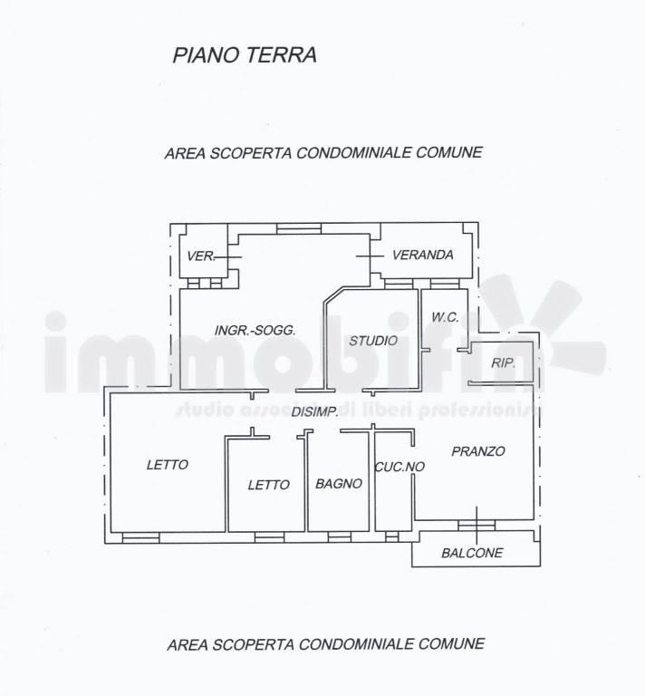 foto planimetria Appartamento buono stato, piano terra, Oria