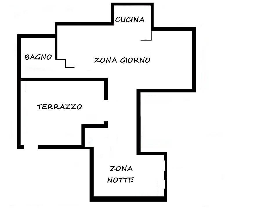 foto PIANTINA 2-room flat via Achille Grandi 4, Settala