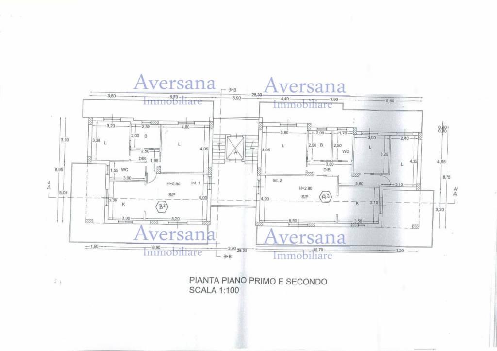 foto Planimetria 3-room flat via Vittorio Emanuele 203, Parete
