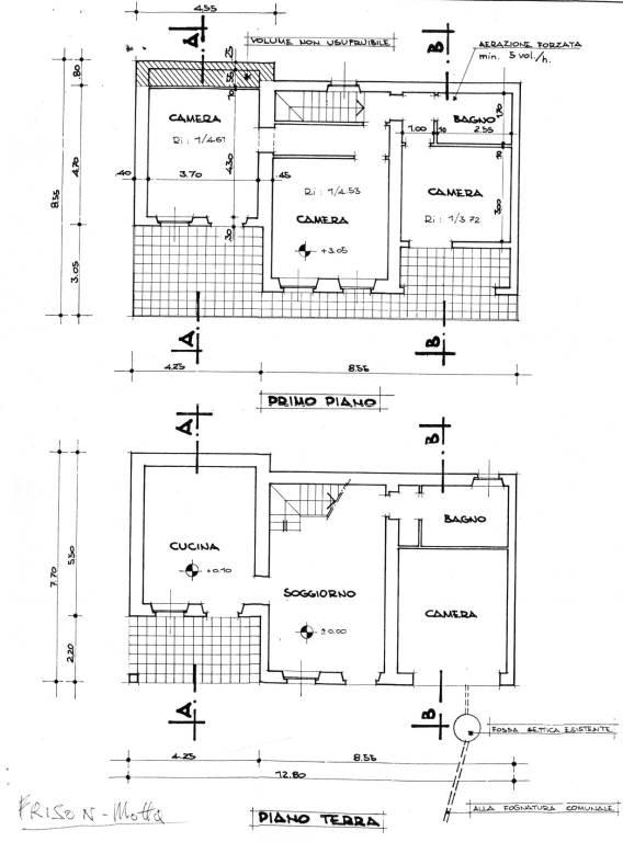 foto Planimetria Villa unifamiliare via Giuseppe Mazzini, Motta de' Conti