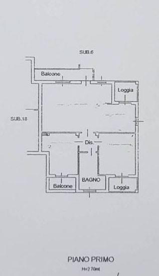 foto plan. app.to Trilocale via 25 Aprile, Fornovo San Giovanni