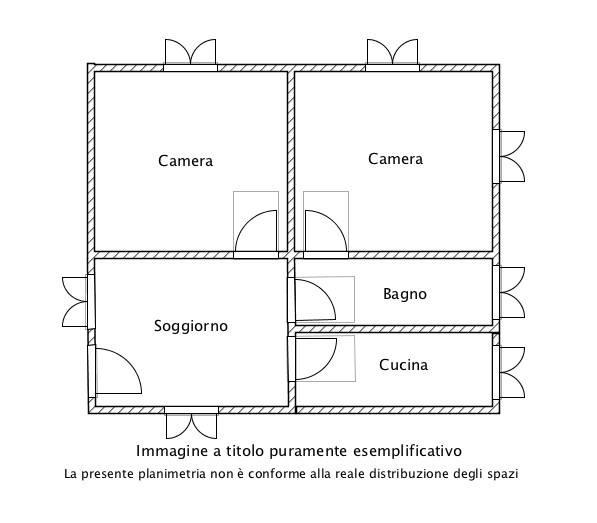foto Planimetria Villa all'asta via delle Rose, Nepi