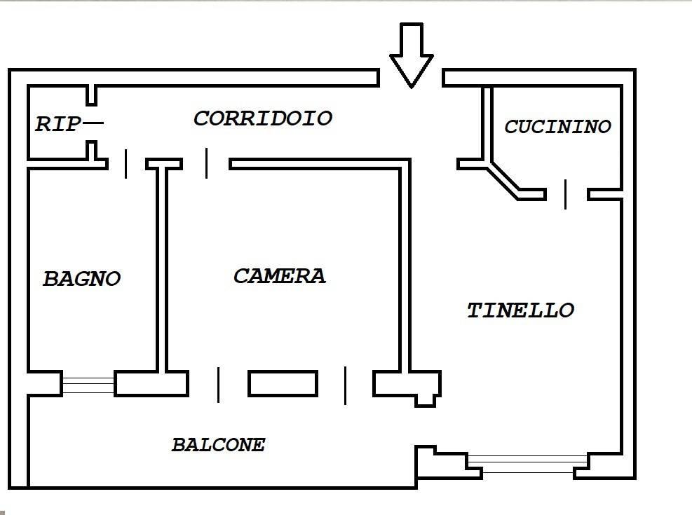 foto PIANO TERZO 2-room flat corso Re Umberto 52, Verzuolo