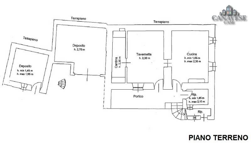 foto planimetria Terratetto unifamiliare via Cairoli 12, Brosso