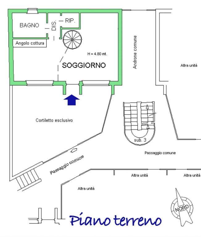 foto Pianta piano terreno Loft strada delle Cacce 38, Torino