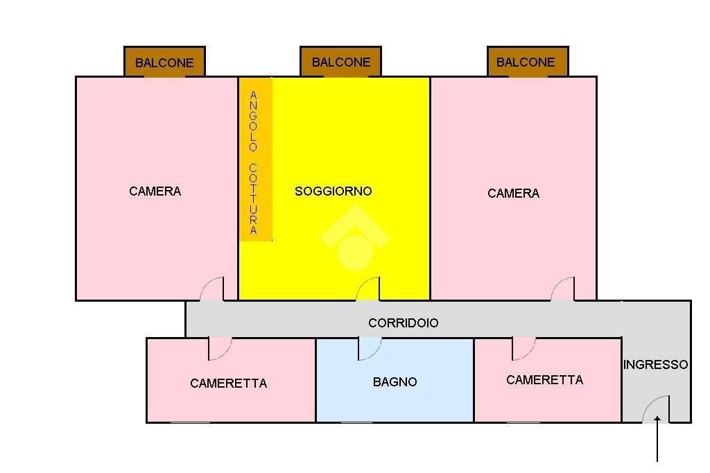 foto Planimetria Quadrilocale buono stato, quarto piano, Napoli