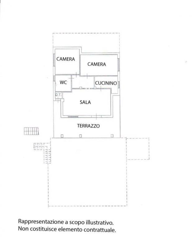 foto plan 3-room flat via Costagrande 21, Roletto