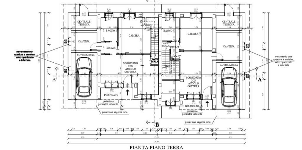 foto planimetria Villa bifamiliare via Forvilla, Givoletto