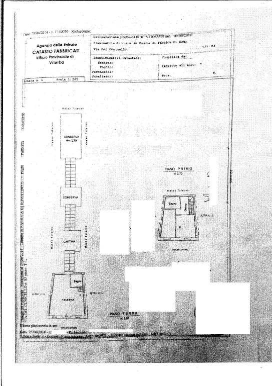foto Planimetria 3-room flat via del Cunicello, Fabrica di Roma