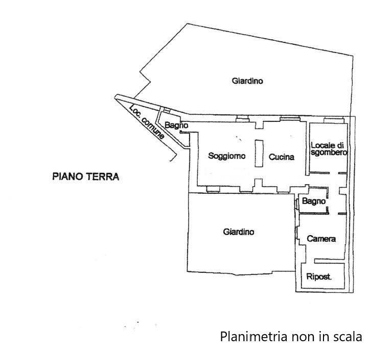 foto Planimetria 4-room flat Ca' Intersenga, Vignale Monferrato