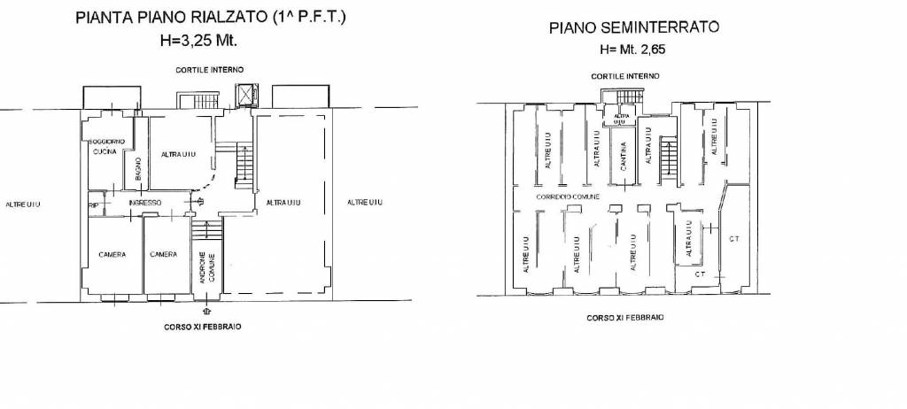 foto Planimetria Trilocale corso 11 Febbraio 31, Torino