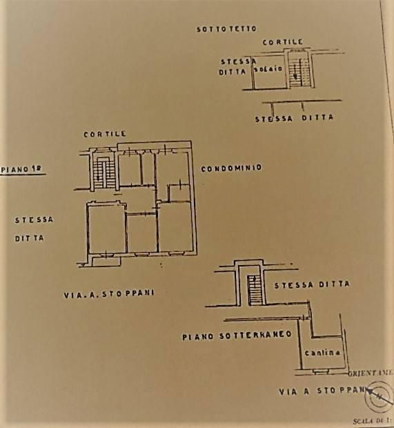 foto PLANIMETRIA Appartamento via Antonio Stoppani 5, Cuneo