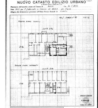 foto Planimetria 2-room flat good condition, mezzanine, Busca