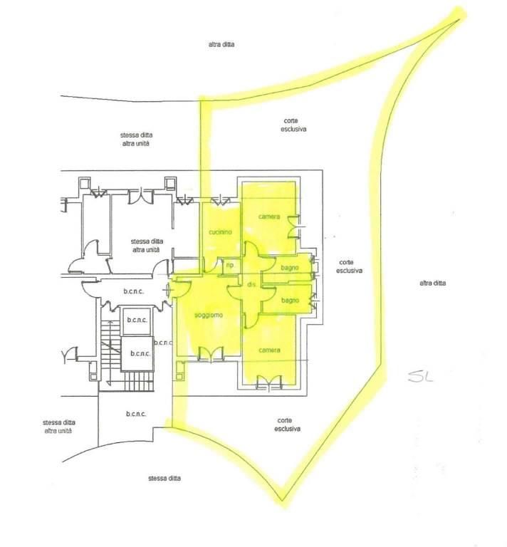 foto Planimetria 4-room flat via Leonardo Da Vinci 13, Condove