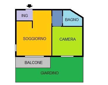 foto Planimetria Bilocale via del Cantalupo 13, Monza