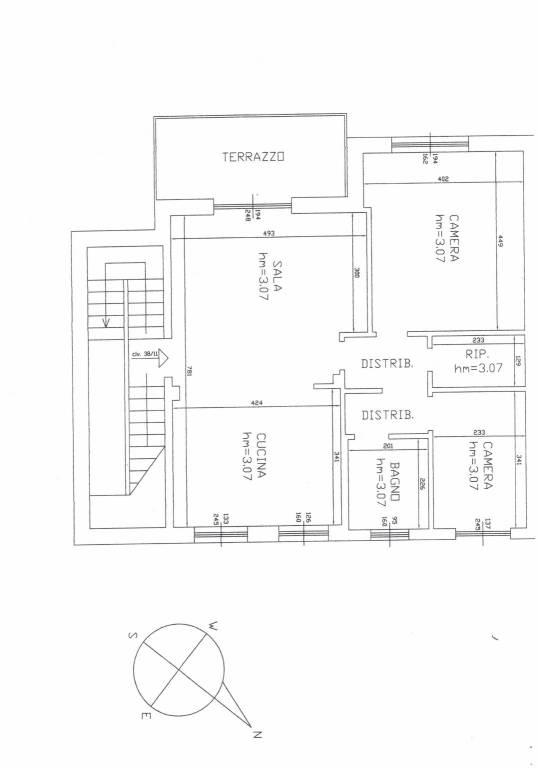 foto planimetria Trilocale via dei Gerani 38, Varazze
