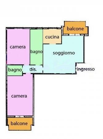 foto Planimetria 3-room flat via dei Tigli 3, Rodano