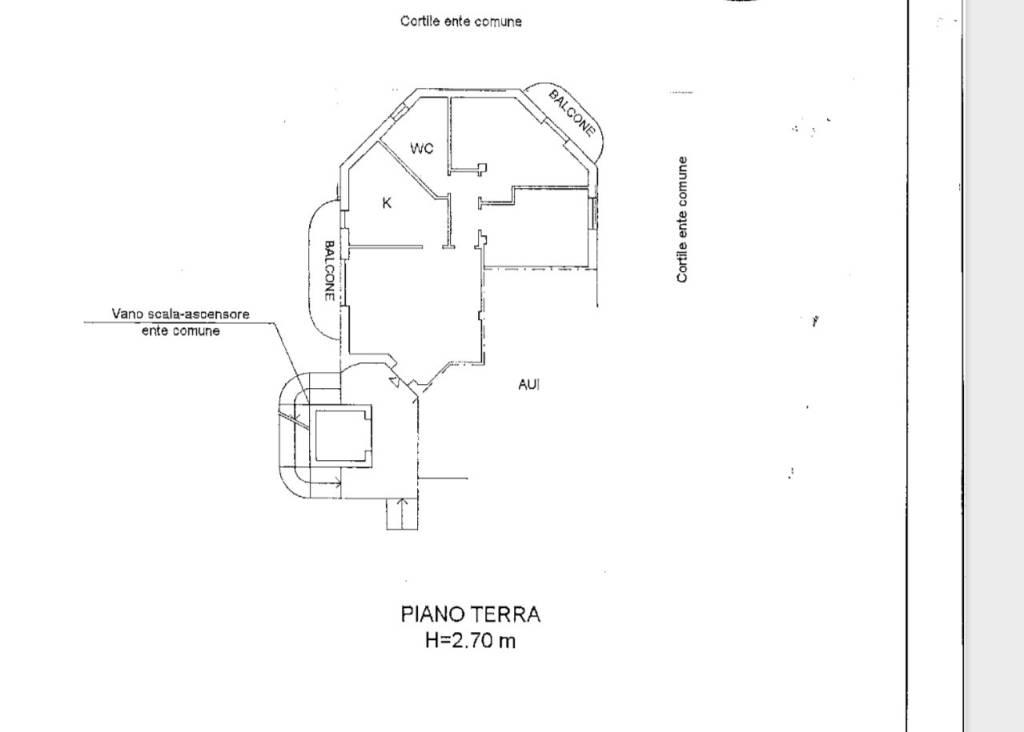 foto planimetria 3-room flat via Cesare Battisti, Locate Varesino