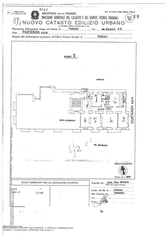foto planimetria appartamento 4-room flat via Giuseppe Garibaldi 46, Torino
