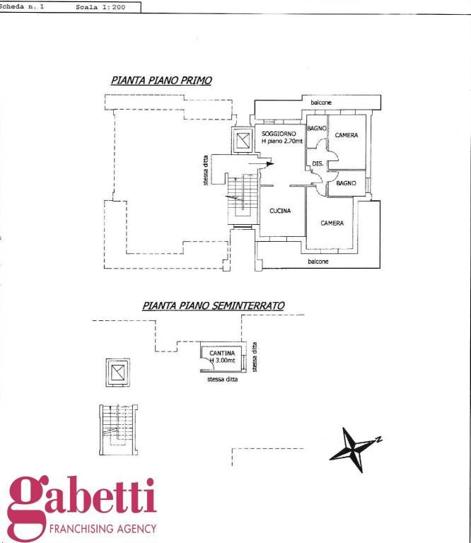 foto PLANIMETRIA 4-room flat via Cuneo 184, Bra