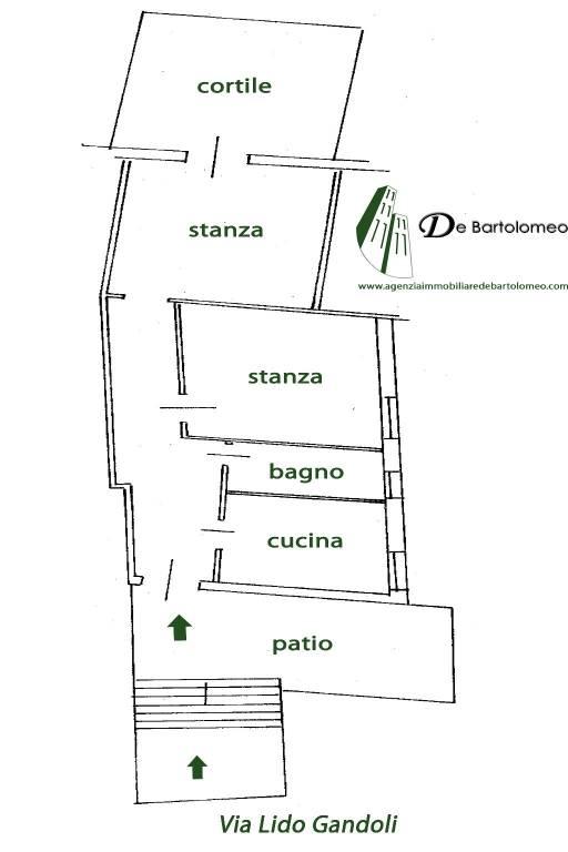 foto PLANIMETRIA Appartamento in villa via Lido Gandoli, Leporano