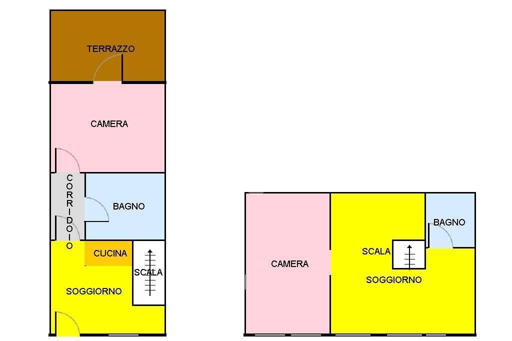 foto Planimetria 4-room flat Vecchia Str  per Cesana, Sauze di Cesana