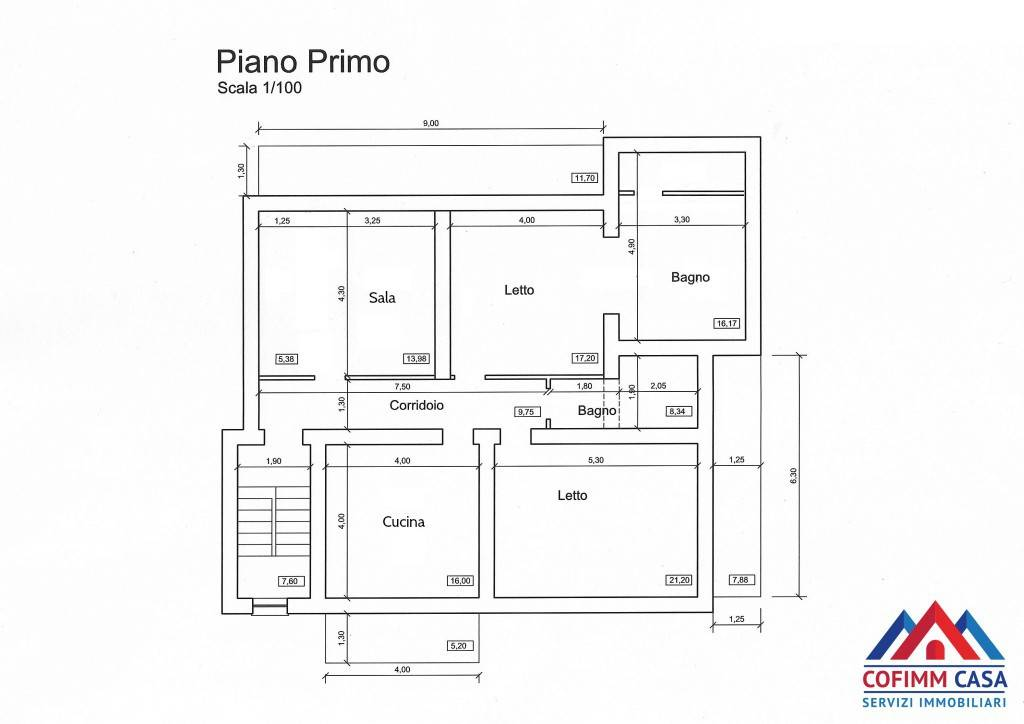 foto planimetria 3-room flat via Sant'Ippolito 32A, Sora