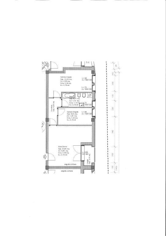 foto planimetria 3-room flat viale Pietro Bertolini, Montebelluna