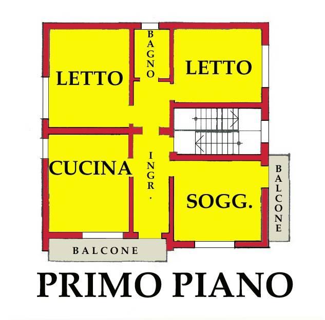 foto PLANIMETRIA 4-room flat via Valle dei Signori 1, Roncoferraro