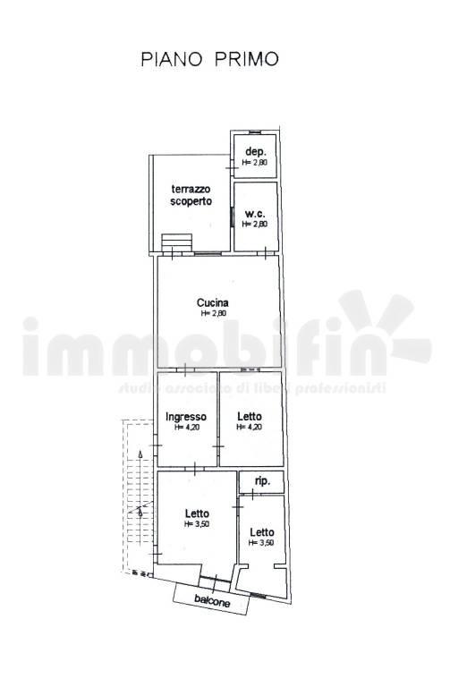 foto Planimetria Appartamento buono stato, primo piano, Oria