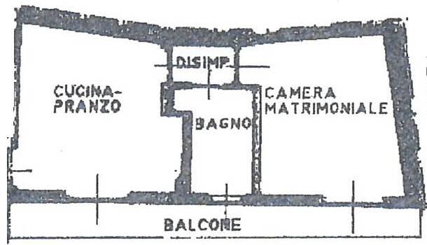 foto Piantina Двухкомнатная квартира via Montebello, Mariano Comense
