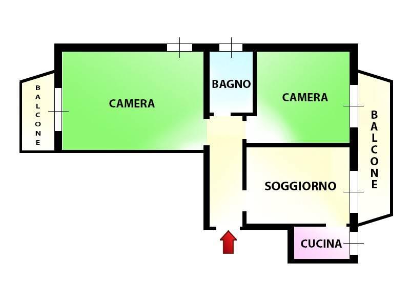 foto Planimetria Trilocale via Vignone 58, Novate Milanese