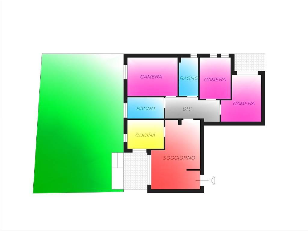 foto Planimetria 4-room flat via per Cascina Centenara, Lacchiarella