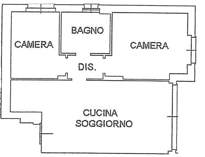 foto Piantina Трехкомнатная квартира via Giuseppe Di Vittorio, Mariano Comense