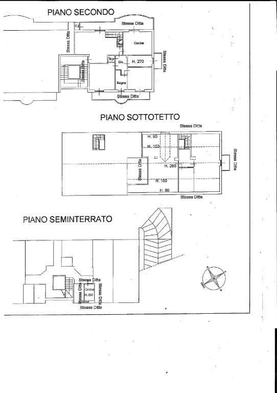 foto planimetria Penthouse via Cuneo 116, Bra
