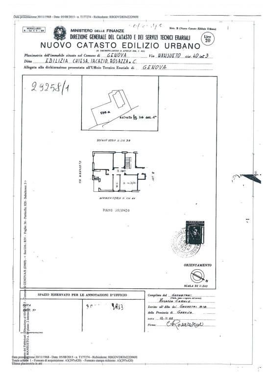 foto plani 4-room flat via Mansueto 40, Genova